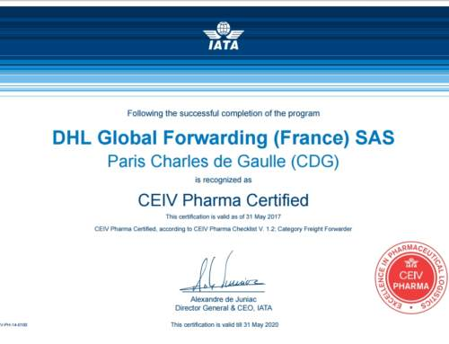 DHL Global Forwarding certifiée à CDG